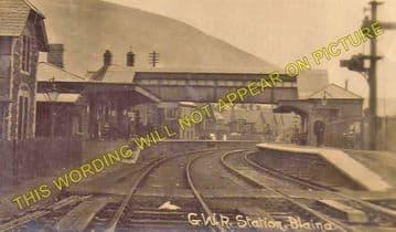 Blaina Railway Station Photo. Abertillery - Nantyglo. Brynmawr Line. (1)