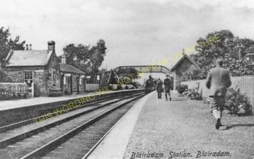 Blairadam Railway Station Photo. Kelty - Loch Leven. Kinross Line. NBR. (2)