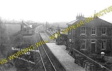 Blake Hall Railway Station Photo. Ongar - North Weald. Epping Line. (1)