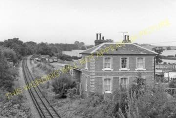 Blake Hall Railway Station Photo. Ongar - North Weald. Epping Line. (8)