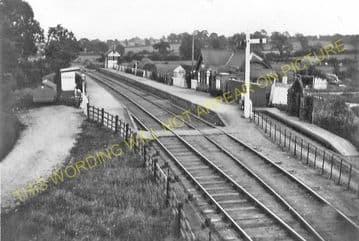 Blakesley Railway Station Photo. Towcester - Morton Pinkney. Stratford Line. (9).