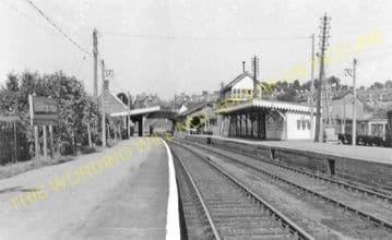 Blandford Forum Railway Station Photo. Shillingstone - Spetisbury. S&DJR. (12)