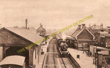 Blandford Forum Railway Station Photo. Shillingstone - Spetisbury. S&DJR. (4)