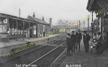 Blaydon Railway Station Photo. Ryton to Derwenthaugh and Scotswood Lines. (7).