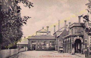 Bletchley Railway Station Photo. Leighton Buzzard - Milton Keynes. L&NWR (16)