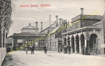 Bletchley Railway Station Photo. Leighton Buzzard - Milton Keynes. L&NWR (20)