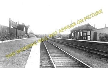 Blockley Railway Station Photo. Campden - Moreton-in-Marsh. Evesham Line. (1)..