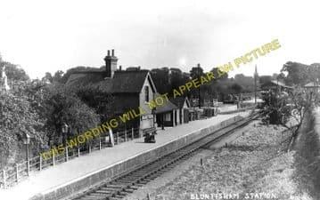 Bluntisham Railway Station Photo. St. Ives - Earith Bridge. Huntingdon Line (3)