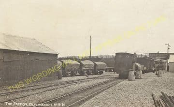 Blythburgh Railway Station Photo. Halesworth - Southwold. Southwold Railway. (1)..