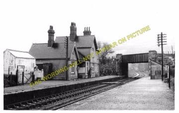 Bodfari Railway Station Photo. Denbigh - Caerwys. Nannerch and Mold Line. (2)