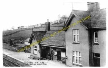 Bodfari Railway Station Photo. Denbigh - Caerwys. Nannerch and Mold Line. (3)