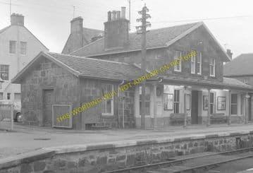Bonar Bridge Railway Station Photo. Edderton - Culrain. Ardgay. Highland. (2)