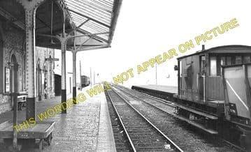 Borth Railway Station Photo. Glandyfi - Llandre. Machynlleth to Aberyswyth. (1)