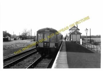 Bottesford Railway Station Photo. Sedgebrook - Elton. Grantham to Nottingham (1)..
