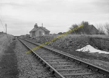 Bower Railway Station Photo. Georgemas - Watten. Thurso to Wick. Highland. (5)