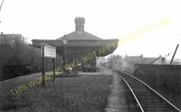 Bowling Railway Station Photo. Old Kilpatrick - Dumbarton. Caledonian Rly. (1).