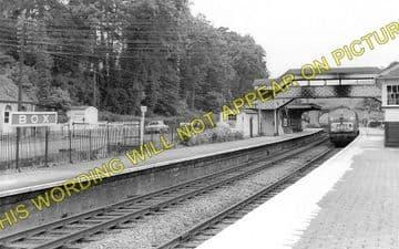 Box Railway Station Photo. Corsham - Bathampton. Chippenham to Bath Line. (2)