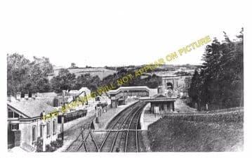 Box Railway Station Photo. Corsham - Bathampton. Chippenham to Bath Line. (3)