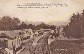 Box Railway Station Photo. Corsham - Bathampton. Chippenham to Bath Line. (9).
