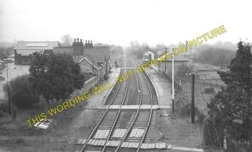 Brackley Town Railway Station Photo. Farthinghoe - Fulwell. Banbury Line. (8)