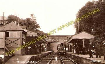 Bracknell Railway Station Photo. Wokingham - Sunningdale. Reading to Ascot. (1)..