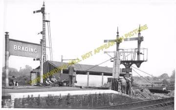 Brading Railway Station Photo. Sandown to Bembridge & Ryde Lines. (13)