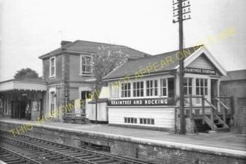 Braintree & Bocking Railway Station Photo. Cressing - Rayne. Felstead Line. (7)