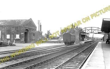 Brandon Railway Station Photo. Thetford - Lakenheath. Ely Line. (1)..