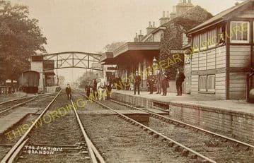 Brandon Railway Station Photo. Thetford - Lakenheath. Ely Line. (4)