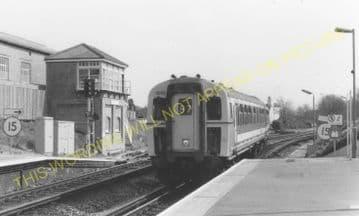 Branksome Railway Station Photo. Bournemouth - Poole and Broadstone. (6)