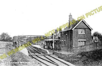 Braughing Railway Station Photo. Standon - Westmill. Mardock to Buntingford (1)..
