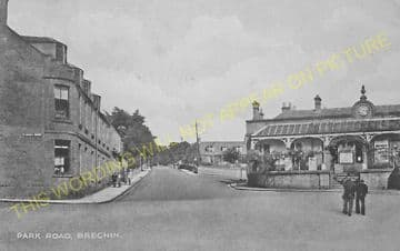 Brechin Railway Station Photo. Bridge of Dun to Careston and Edzell. (10)..