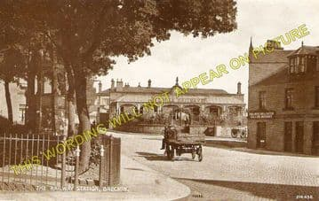 Brechin Railway Station Photo. Bridge of Dun to Careston and Edzell. (5)