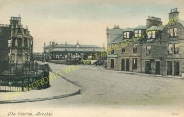 Brechin Railway Station Photo. Bridge of Dun to Careston and Edzell. (8)