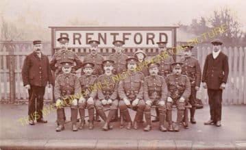 Brentford Central Railway Station Photo. Isleworth - Kew Bridge. L&SWR. (5)