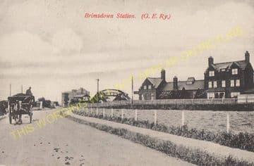 Brimsdown Railway Station Photo. Ponders End - Enfield Lock. Cheshunt Line. (5).