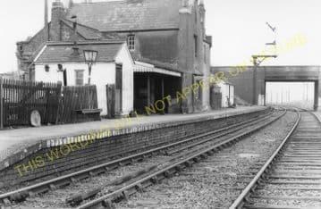 Brixworth Railway Station Photo. Spratton -Lamport. Northampton to Clipston. (2)