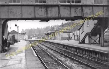Broadstone Railway Station Photo. Wimborne to Poole and Hamworthy Lines. (22)