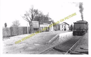 Brockford & Wetheringsett Railway Station Photo. Mendlesham - Laxfield. MSLR (1)