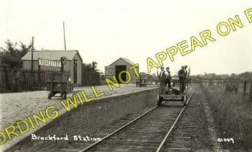 Brockford & Wetheringsett Railway Station Photo. Mendlesham - Laxfield. MSLR (2)