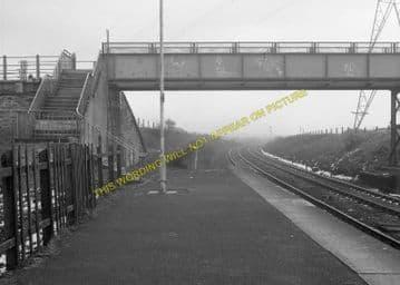 Brockley Whins Railway Station Photo. Fellgate to Boldon Line. (7)