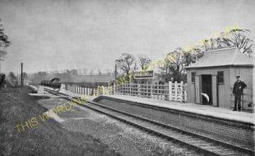 Bromham & Rowde Railway Station Photo. Devizes - Seend. Patney to Holt. GWR (10)