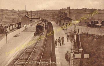 Bromyard Railway Station Photo. Rowden Mill - Suckley. Leominster Line. (8)