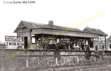 Broomlee Railway Station Photo. Macbie Hill - Dolphinton. Leadburn Line. (1)