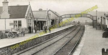 Brora Railway Station Photo. Golspie - Loth. The Mound to  Helmsdale. (14)