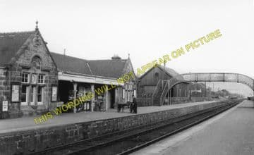 Brora Railway Station Photo. Golspie - Loth. The Mound to  Helmsdale. (2)
