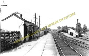 Broughton Astley Railway Station Photo. Countesthorpe - Ullesthorpe. (1)..