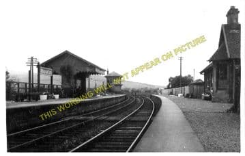Broughton Railway Station Photo. Stobo - Biggar. Peebles to Symington Line. (1)..