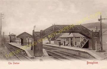 Broughton Railway Station Photo. Stobo - Biggar. Peebles to Symington Line. (2)