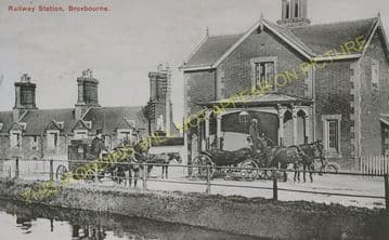 Broxbourne & Hoddesdon Railway Station Photo. Cheshunt to Rye House. (9)